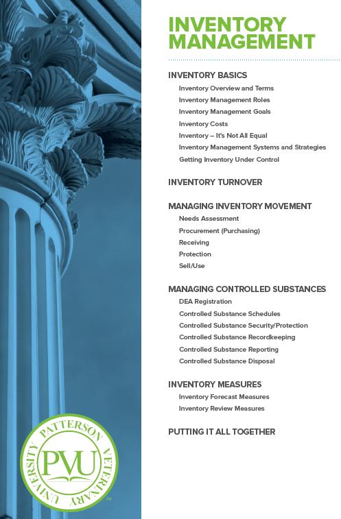 Inventory Management - Patterson Veterinary University