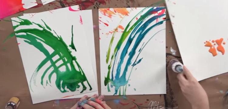 Art Journal Mark Making: Throwing Ink