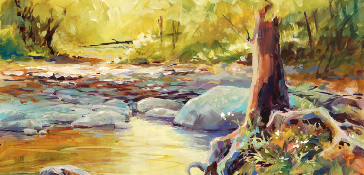 Acrylic Unleashed: Painting a Colorful Landscape