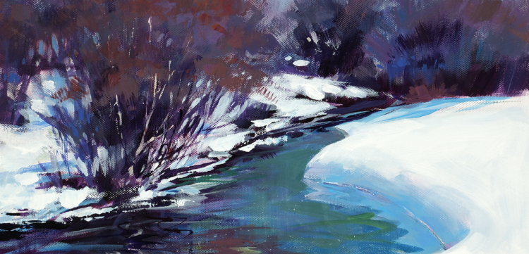 Acrylic Unleashed: Painting a Snowy Landscape