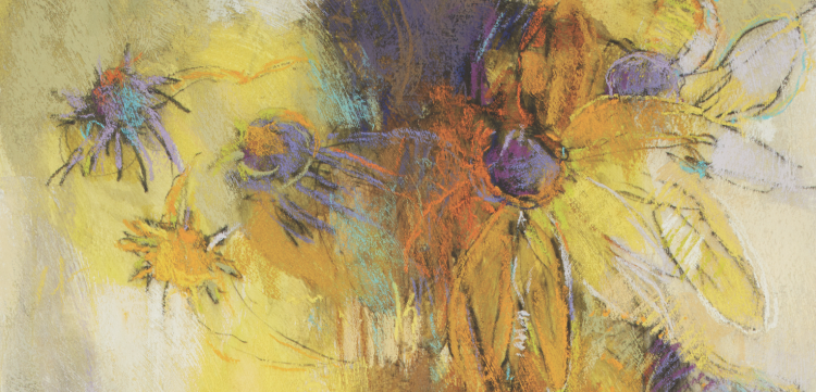Abstract Painting Techniques: Flowers in Pastel