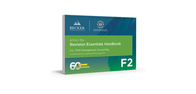 Catalogue becker acca f2 management accounting revision essentials handbook fandeluxe Image collections