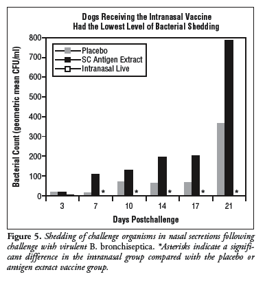 Comparison of the Mucosal Immune Response in Dogs Vaccinated