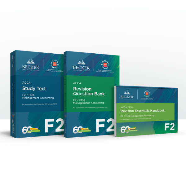 F2: Management Accounting - Premium Self-Study Package