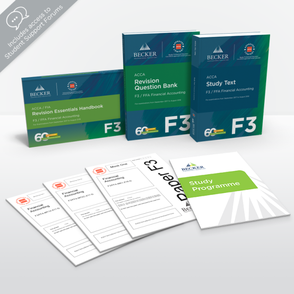 F3: Financial Accounting - Premium Self-Study Package