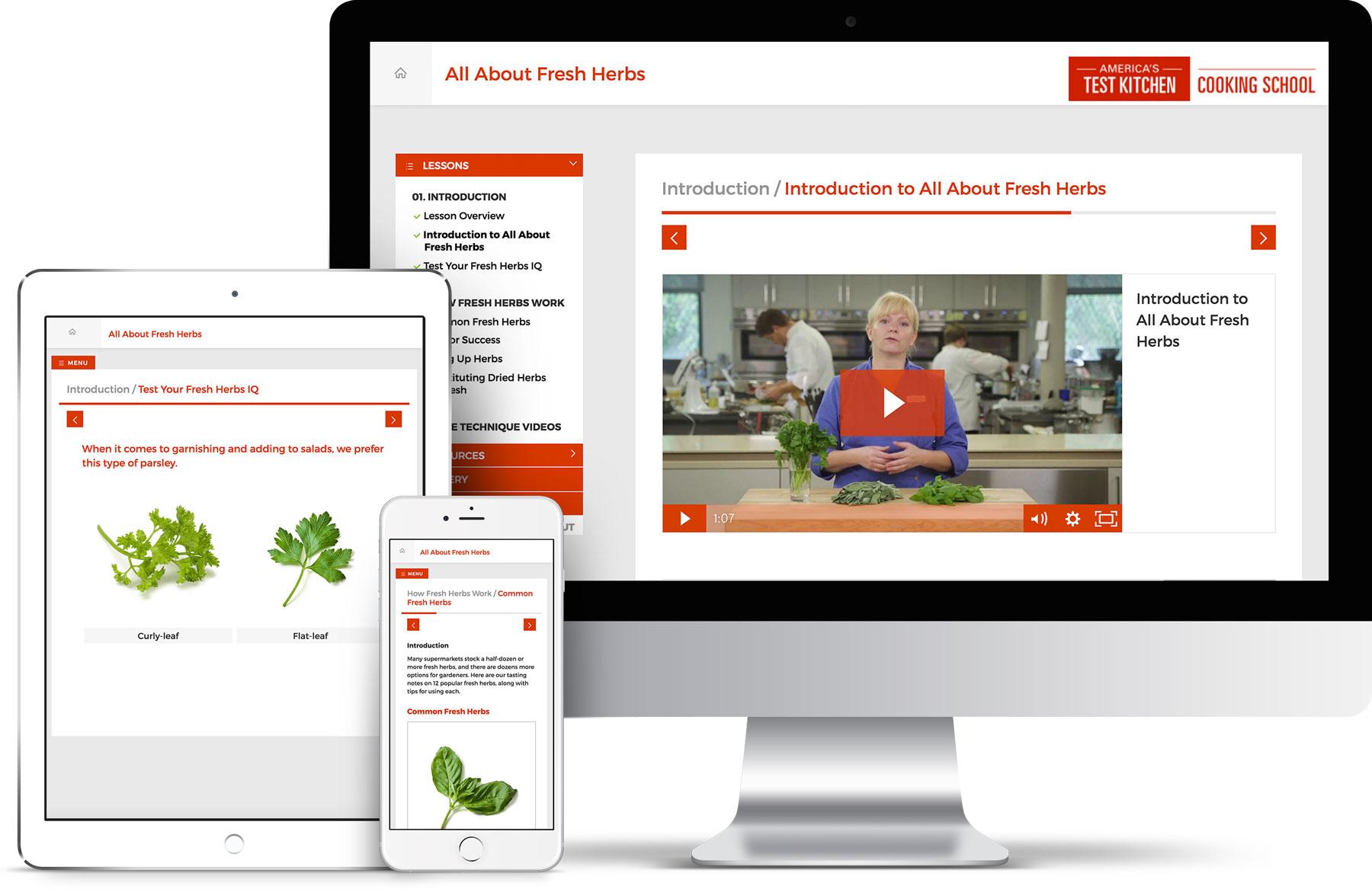 America\'s Test Kitchen Online Cooking School