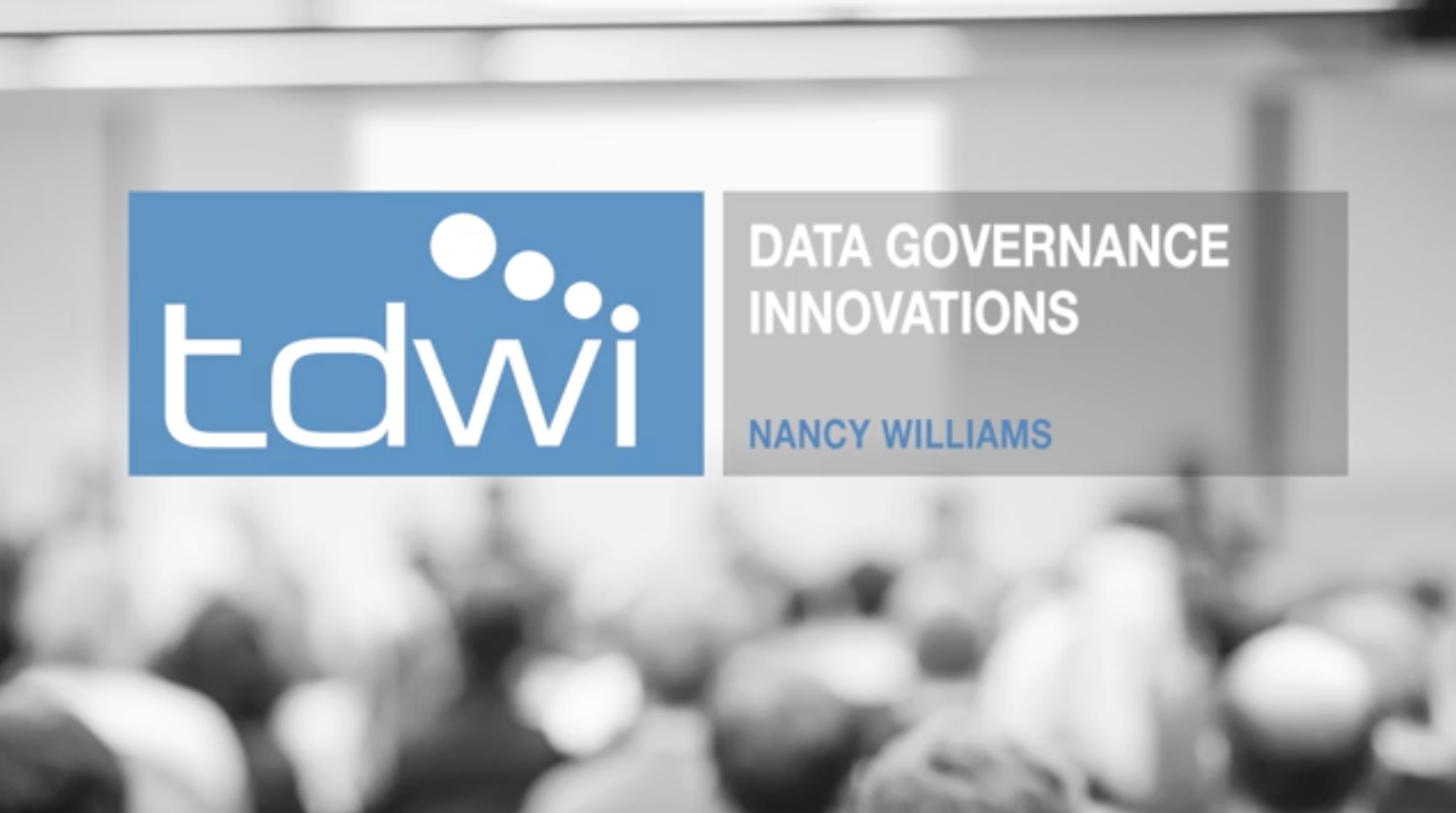 Tdwi Online Learning Data Governance Innovations